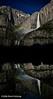 """""""Moonbow and Reflection at Yosemite Falls""""  15 May 2006  Reworked postprocessing January 2008"""